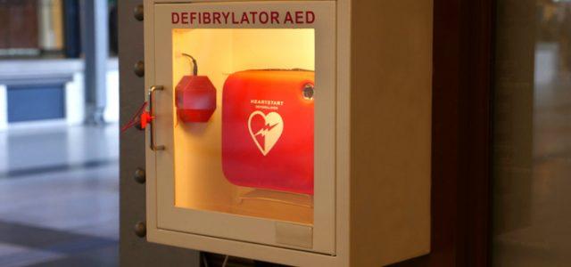 defibrillator in fitness center