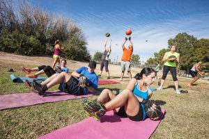 Fitness training in parks