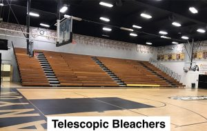 Telescopic bleacher risk management